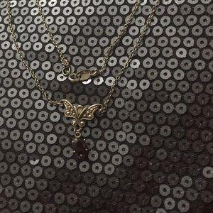 Vintage 1994 Genuine Garnet Necklace